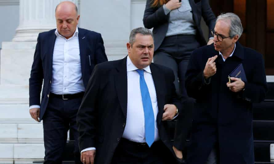 Panos Kammenos opposed deal to rename Greece's Balkan neighbour Republic of North Macedonia.