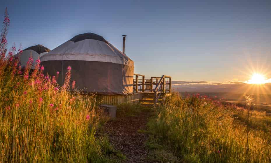 yurts at Alexander House, Auchterarder, Perthshire