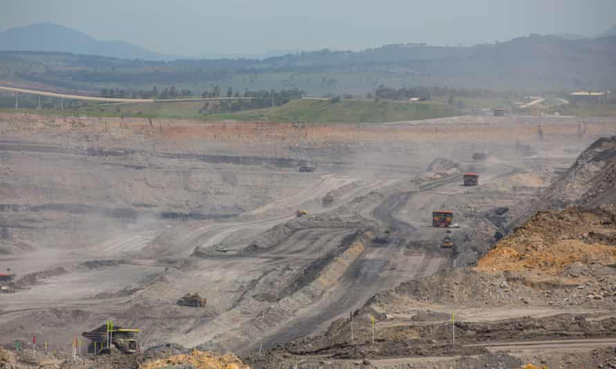 The Mount Pleasant thermal coal open-cut mine, near Muswellbrook in the Upper Hunter Valley region of NSW.