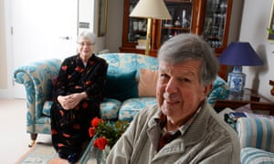 Malcolm and Margaret Murdoch in their new flat in a retirement complex.