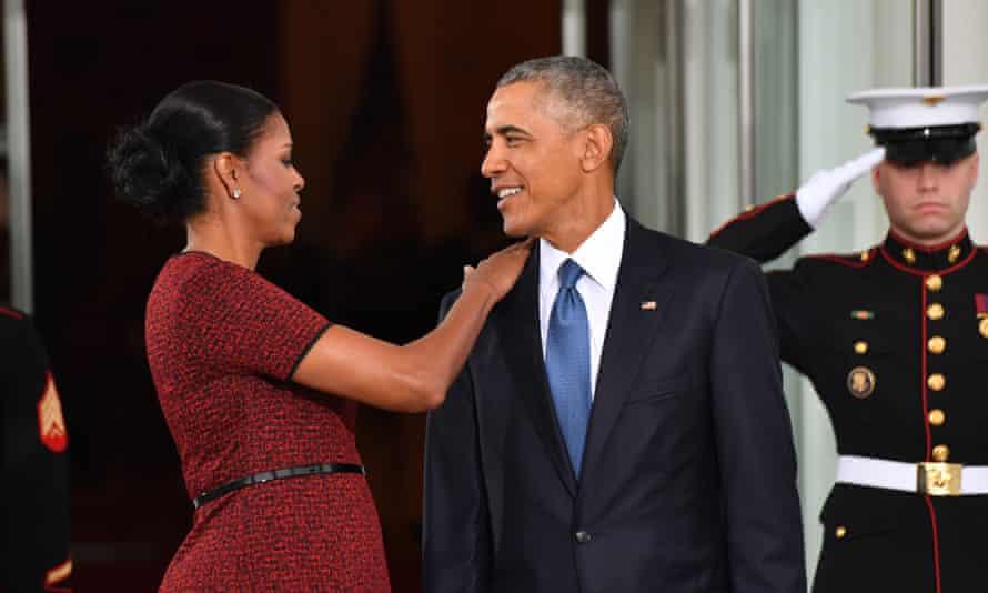 Michelle Barack Obama Donald Trump inauguration in January 2017.