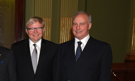Kevin Rudd and Paul Keating