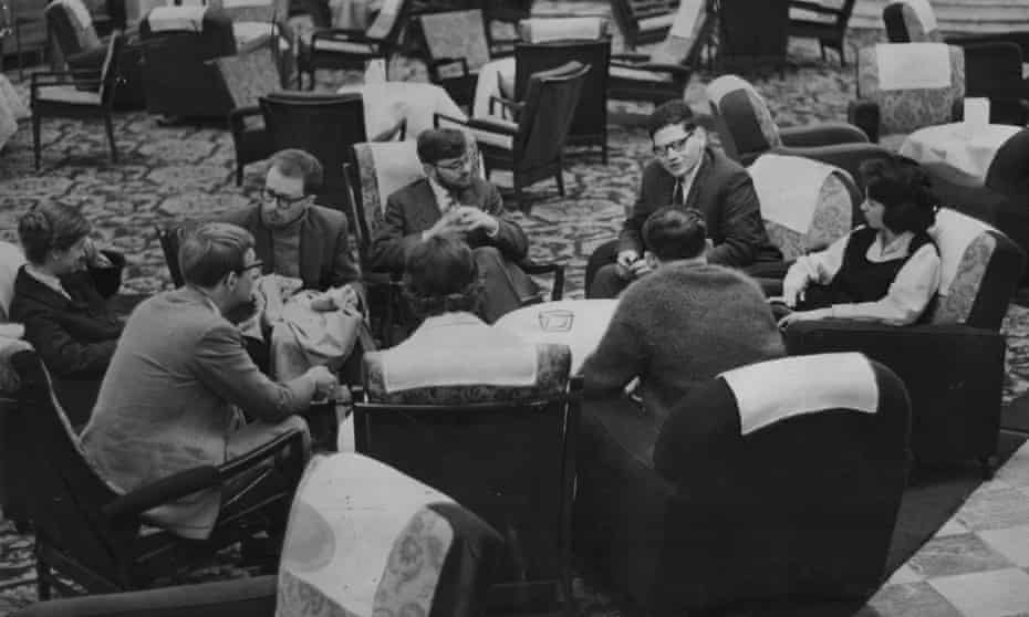 A Mensa candidates meeting in 1961. Photograph by Leopald Joseph/ANL/REX/Shutterstock.