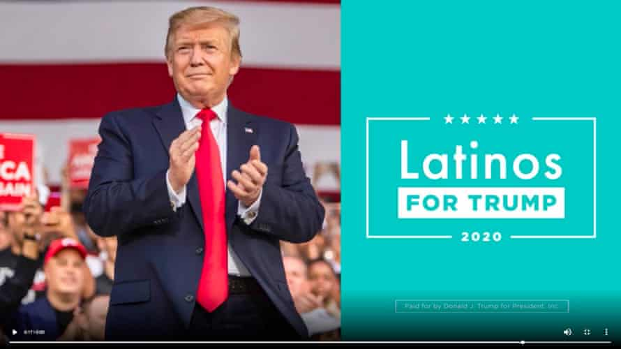 The Trump reelection campaign has launched 66 ads seeking support from Latinos since Monday.