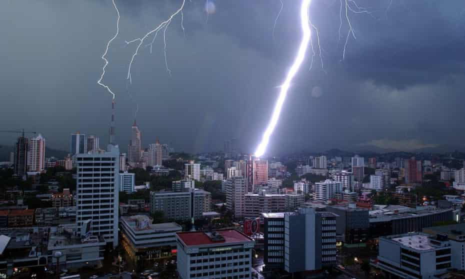 Lightning in Panama City. The Panama Papers leak has rocked the world of offshore secrecy.