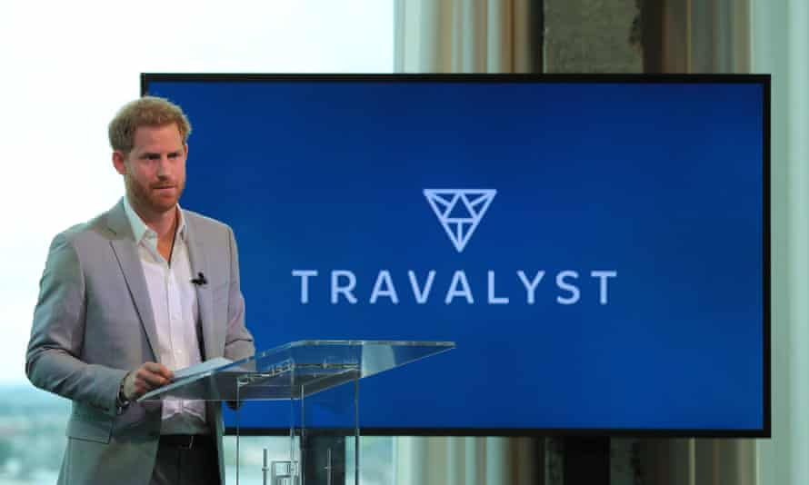 Prince Harry speaking at the launch of the Travalyst partnership, in Amsterdam.