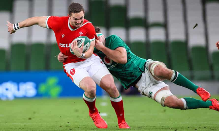 George North won his 100th cap for Wales by coming off the bench in the second half.