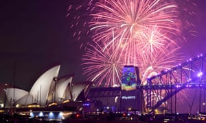 Fireworks erupt over Sydney's Harbour Bridge and Opera House
