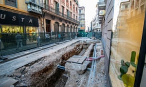 The dig in the centre of Valladolid, Spain