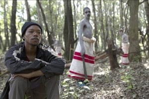 Nakhane (left) as Xolani in The Wound
