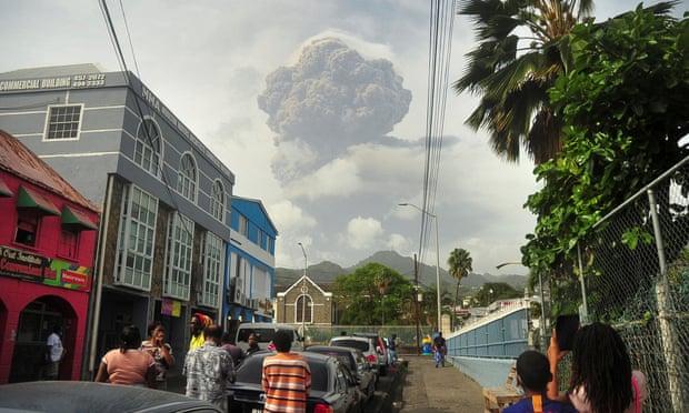 St Vincent rocked by explosive eruptions at La Soufrière volcano,carthage news