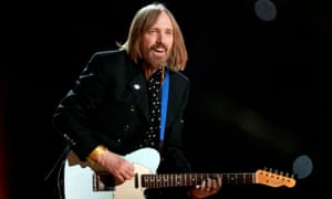 Tom Petty performing at the 2008 Super Bowl