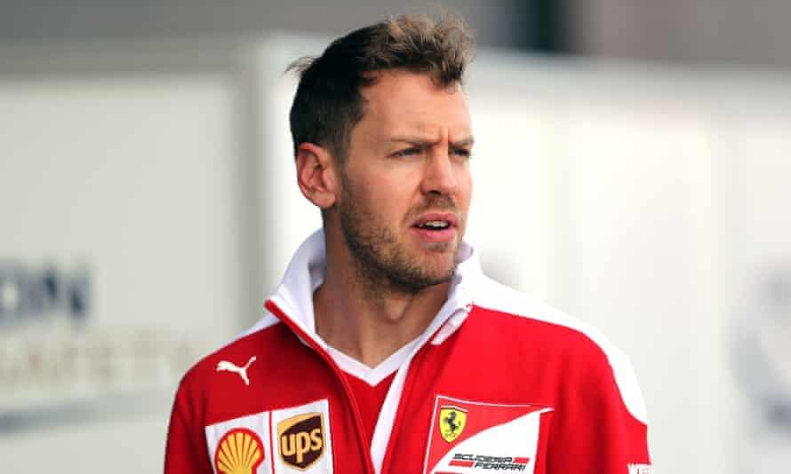 Sebastian Vettel's Ferrari collided with Lewis Hamilton's Mercedes during the Azerbaijan Grand Prix.