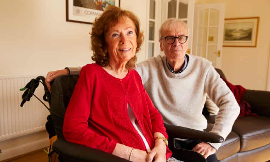 Jean Almond at home in St Helens with her husband Geoffrey.