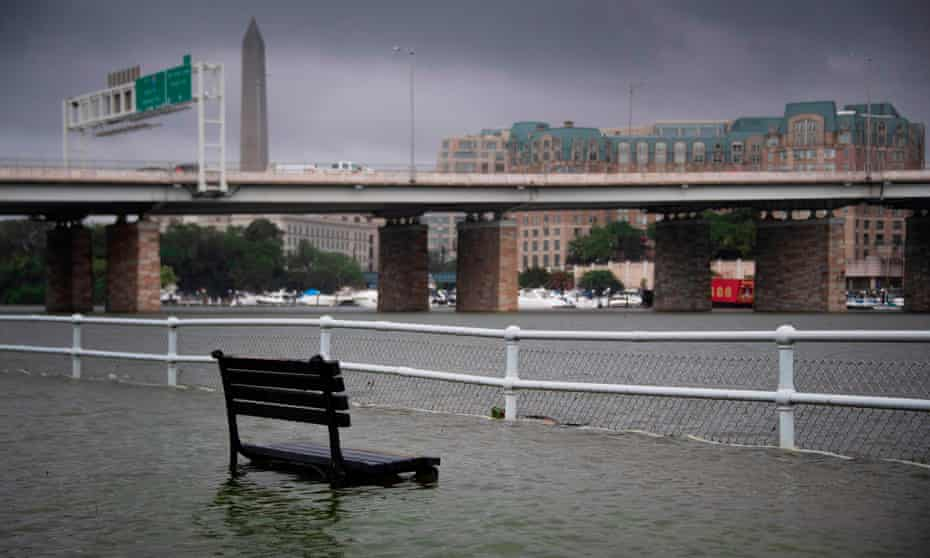 Washington sits on the banks of two tidal rivers: the Potomac and the Anacostia, which puts it at growing risk of flooding.