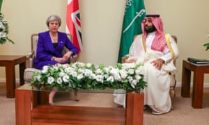Mohammed bin Salman and Theresa May