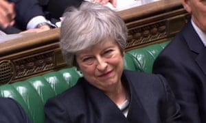 Theresa May in the Commons.