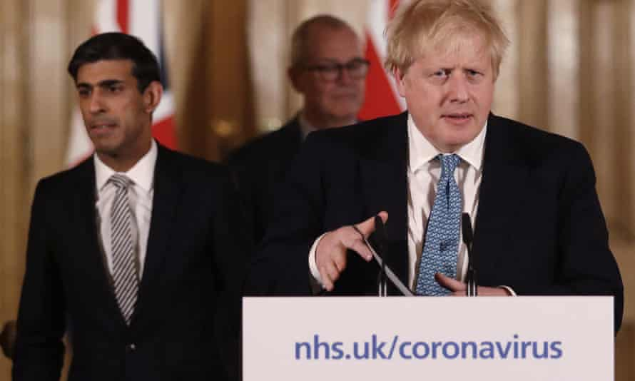 Rishi Sunak, left, and Boris Johnson