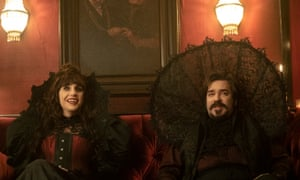Natasia Demetriou and Matt Berry – 'a tempest in a magnificently goateed teacup' – in What We Do in the Shadows.