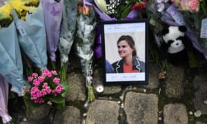 A tribute to Jo Cox left in Birstall, West Yorkshire