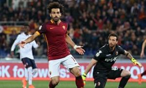 Roma's Egyptian striker Mohamed Salah