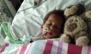Rosie in hospital