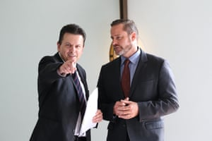 Greens senator Peter Whish-Wilson and Independent Nick Xenophon in the mural hall before a press conference in Parliament House Canberra this afternoon, Tuesday 15th March 2016.