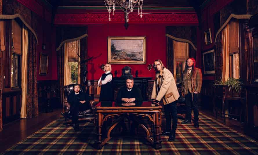 New Zealand band the Chills, from left to right: Oli Wilson, Erica Scally, Martin Phillipps, Todd Knudson, Callum Hampton