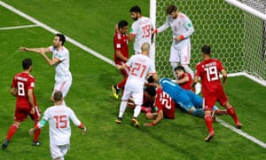 Iran v Spain: 'a classic of its kind, a narrow back four and five midfielders often becoming a 3-6-1 that stifled more obviously gifted opposition for most of the game'.