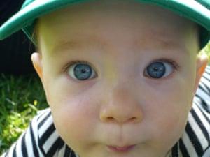Blue EyesMy baby son, Finn, looking down the lense.