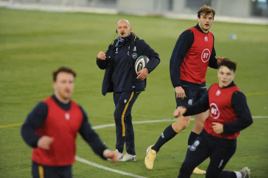 Gregor Townsend during Scotland's pre-tournament training.