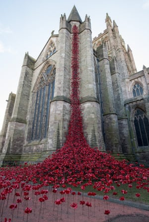 The Weeping Window sculpture at Hereford Cathedral in March
