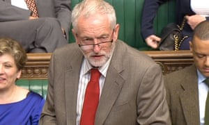 Jeremy Corbyn speaks during the debate on whether to renew the Trident nuclear deterrent