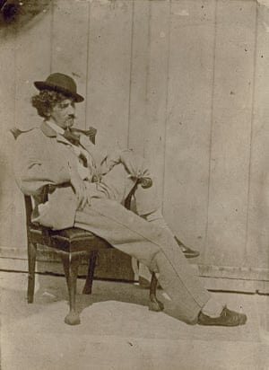 Whistler seated on Chippendale chair circa 1860 by an unknown photographer