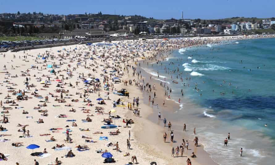Sydney's Bondi Beach, where a woman on holiday from France spotted a camera and a toiletry bag on the sink of her hostel bathroom.