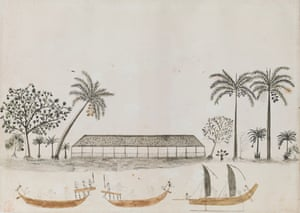 Tahitian Scene by Tupaia, part of James Cook: The Voyages.