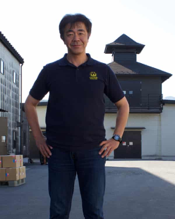 Ichiro Akuto, president of Venture whisky, outside his distillery in Chichibu, Japan