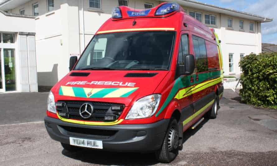 Devon and Somerset's new fire ambulance.