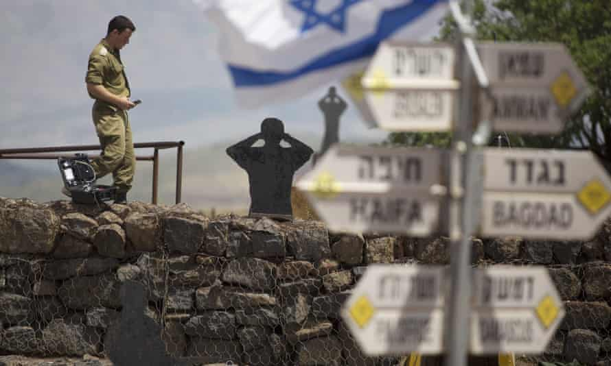 An Israeli soldier in Golan Heights.