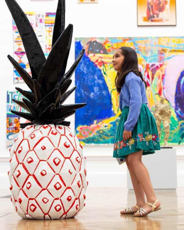 Joyful energy ... Rose Wylie's pineapple.