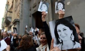 A mass in Malta in memory of murdered journalist Daphne Caruana Galizia