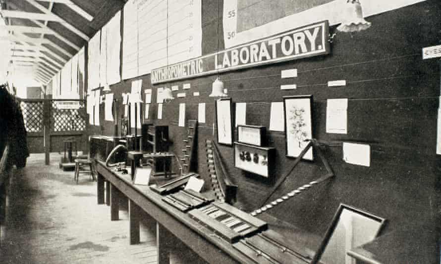 Francis Galton's anthropometric laboratory.