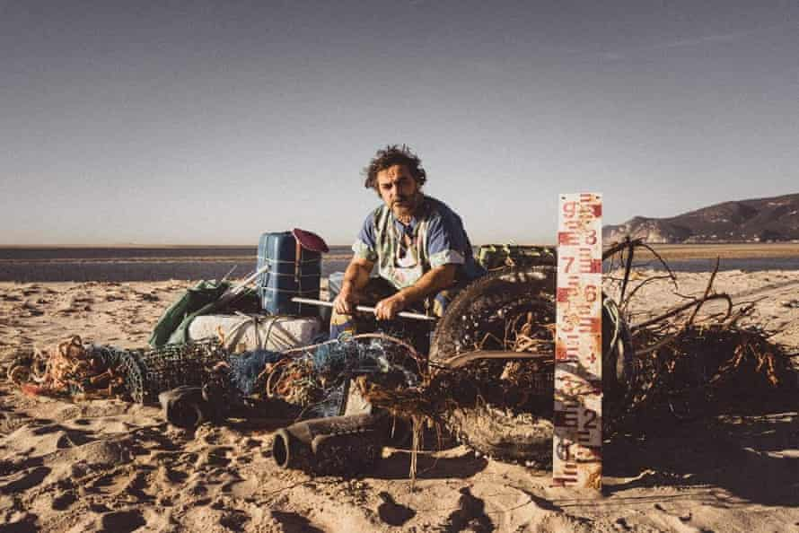 André Amaro, who ocean plastics and makes clothing, interiors and art pieces