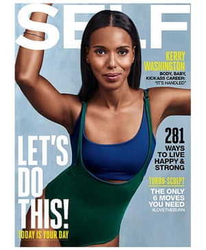 Kerry Washington on cover of Self September 2015