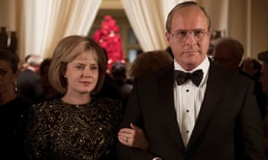 Amy Adams as Lynne Cheney and Christian Bale as Dick Cheney in Vice.