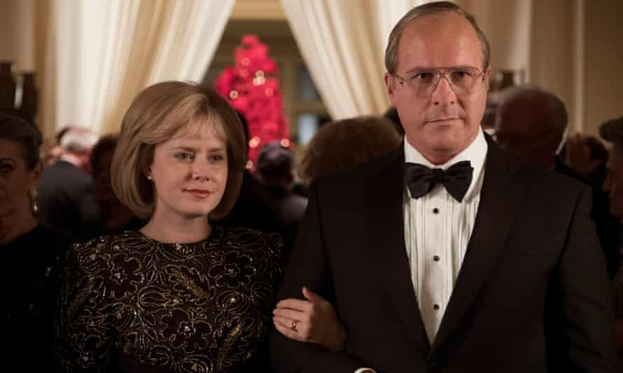 Amy Adams and Christian Bale in Vice.