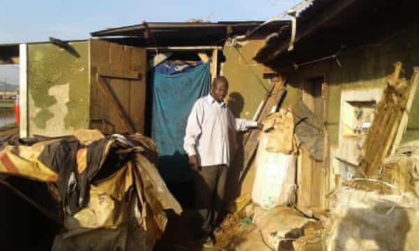 Daudi Musisi at his residence in Kibbe zone, a sprawling slum in the Kalerwe suburb.