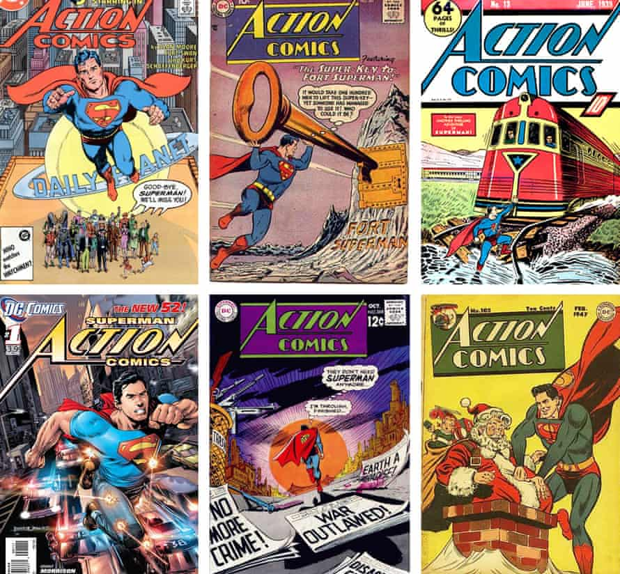 Eighty years of Superman: issues of Action Comics.