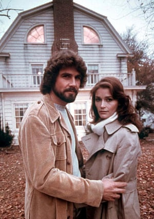 Margot Kidder with James Brolin in the 1979 film The Amityville Horror.