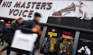 HMV music store in Oxford Street, London.
